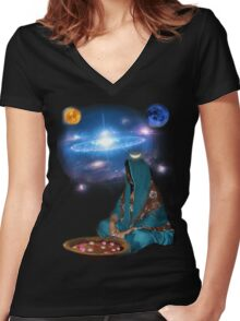 Birthing the Universe Women's Fitted V-Neck T-Shirt
