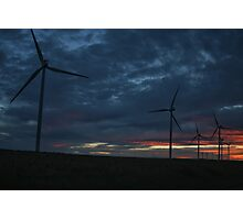 Wind Turbine Sunset #1 Photographic Print