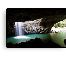 Natural Bridge Waterfall Canvas Print