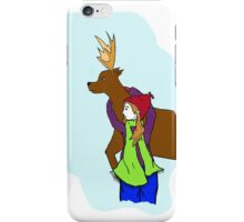 Deer and Girl iPhone Case/Skin