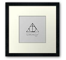 'Calmly' Framed Print