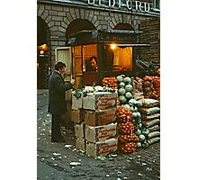 """Time for a Chat"", Covent Garden Market, London, 1973. Photographic Print"