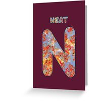 Alphabet - Neat N Greeting Card