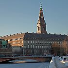 Christiansborg Palace at winter time by imagic