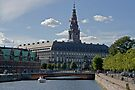 Christiansborg Palace in summer by imagic