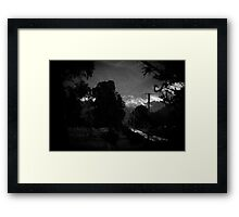mountains after rain. Framed Print
