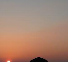 Trebarwith Strand - Gull Rock Sunset by kernowseb