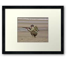 Take Aim - WW2 Operation Neptune Re-actment Skegness Beach 2010 Framed Print