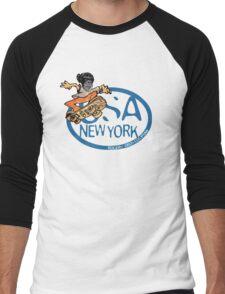 usa new york tshirt skater by rogers bros co Men's Baseball ¾ T-Shirt