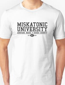 Miskatonic University - Black Unisex T-Shirt