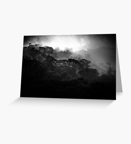 mountains after rain........ Greeting Card