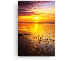 Sunrise On Rustington Beach Canvas Print