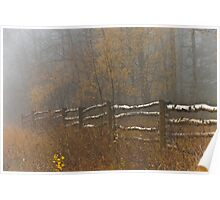 Country Fence ..Misty Style Poster