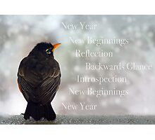 New Years Card Photographic Print