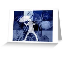 It's raining umbrellas Greeting Card