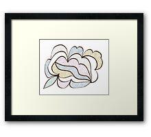 Bubbled Shape Framed Print