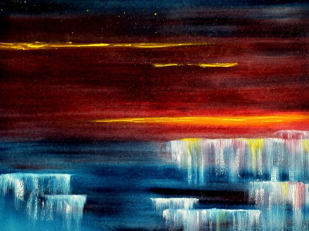 Frozen waterfalls 2 by david hatton