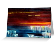 Frozen waterfalls 2 Greeting Card