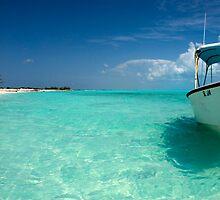 Anchored boat, Long Island, Bahamas by Shane Pinder