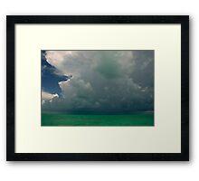 Storm clouds, Bahamas Framed Print