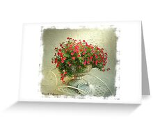 Million Bells in Red Greeting Card