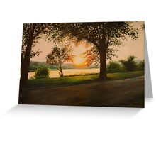 The End of the Day on Riverside Greeting Card