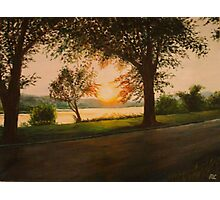 The End of the Day on Riverside Photographic Print