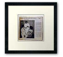 It Might Have Been Good Not To Touch Framed Print