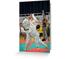 Ushiro Mawashi Jodan Greeting Card
