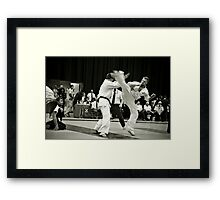 Ushiro Mawashi Geri Jodan Framed Print