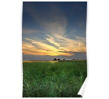 - Sunset over Townlands and Fynnes Meadow Poster