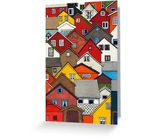 Colourful Houses Greeting Card