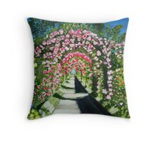 Flower Arches Throw Pillow