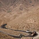 Hairpin bends, Atlas Mountains, Morocco by Christopher Cullen