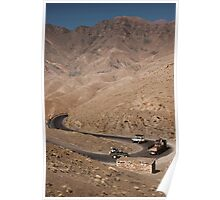 Hairpin bends, Atlas Mountains, Morocco Poster