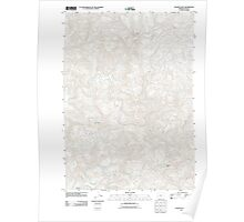 USGS Topo Map Oregon Golden Falls 20110824 TM Poster