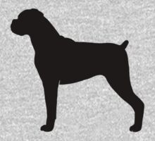 Boxer Dog Silhouette(s) One Piece - Short Sleeve