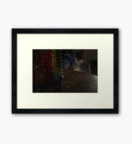 I'm Being Watched Framed Print