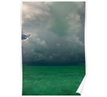 Approaching Storm, Long Island, Bahamas Poster