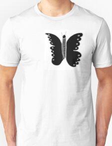 Buttery-Flutterby B&W  T-Shirt