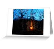 Hillbilly Fireplace Greeting Card