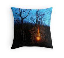 Hillbilly Fireplace Throw Pillow