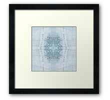 mapping mary; patterned map  Framed Print