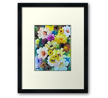 CHRYSANTHEMUMS AND ASTERS - AQUAREL Framed Print