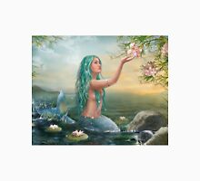 Mermaid in the Sunset with Green Hair & Lilies T-Shirt