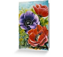 ANEMONES - AQUAREL Greeting Card