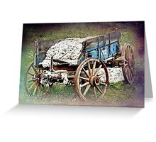 The Old Cotton Wagon Greeting Card