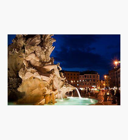 Fontana dei Quattro Fiumi - Piazza Navona, Rome Photographic Print