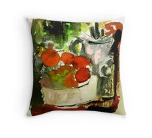 tomatoes and pot Throw Pillow