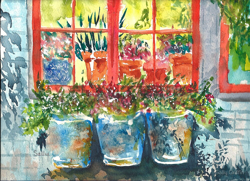 Outside My Window ll by Sally Griffin